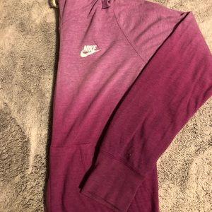 Nike Long-Sleeve Ombre Gym Vintage Hoodie
